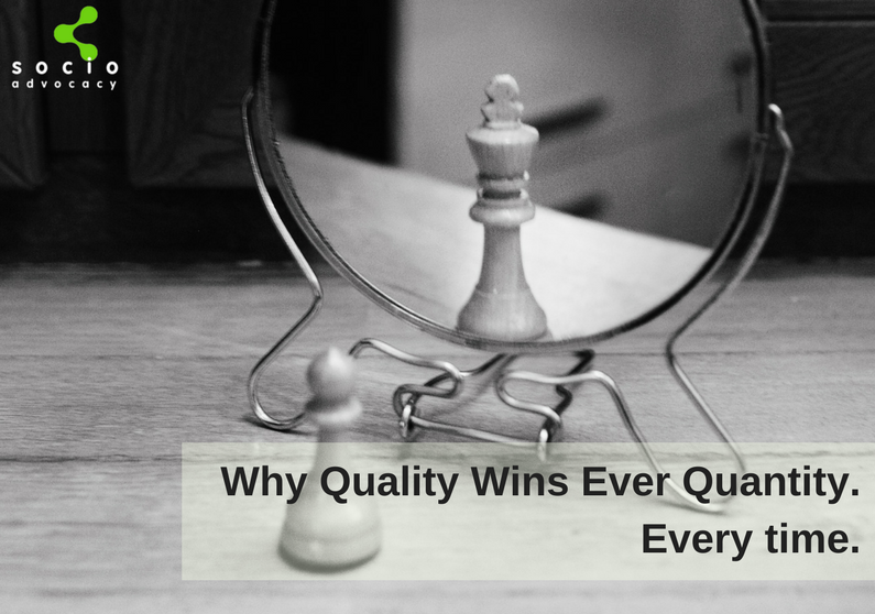 why quality wins over quantity in employee advocacy